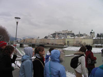 Crossing the river Salzach
