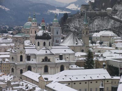 Towers, spires and cupolas of Salzburg