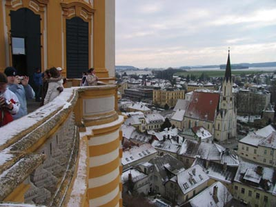 Overlooking the town of Melk