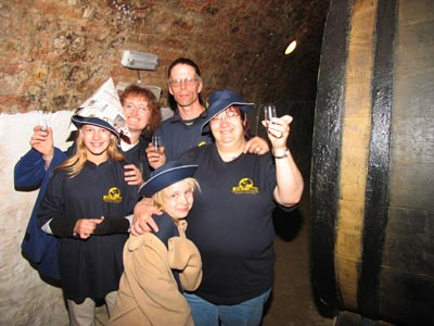 Touring the 13th century wine caves