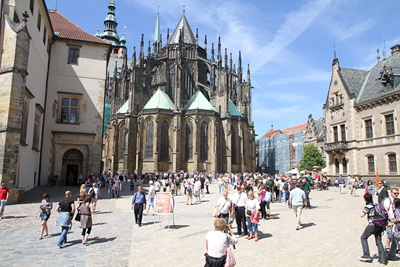 the rear side of st. Vitus cathedral