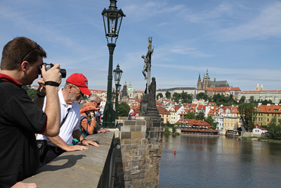 Prague castle panorama from the Charles bridge