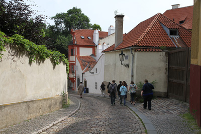 stroling the old lanes in Prague