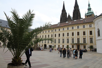 at the courtyard of the Prague castle