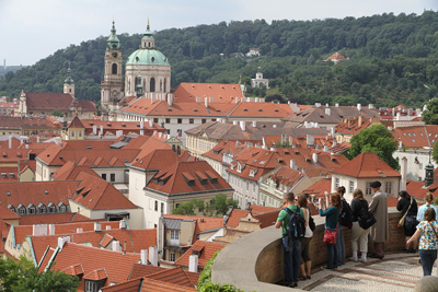 overlooking the Lesser Town of Prague