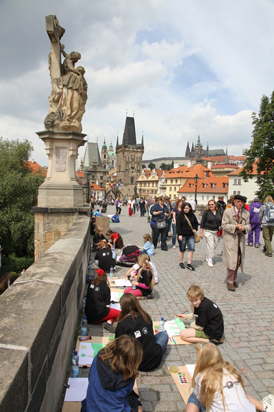 at the Charles bridge