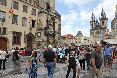 Prague – the Old Town Square with the Astronomical clock
