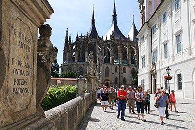 Visiting the historical town Kutna Hora