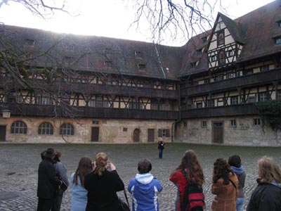 Bamberg - Inside the court yard